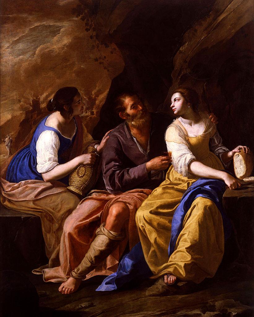 Artemisia Gentileschi, Ló e suas filhas, c 1635 e 1638