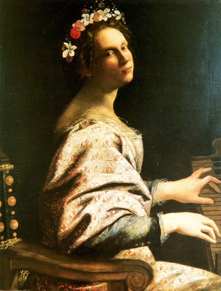 Artemisia Gentileschi, Santa Cecília, c 1620. Coleção privada, Trento, Itália