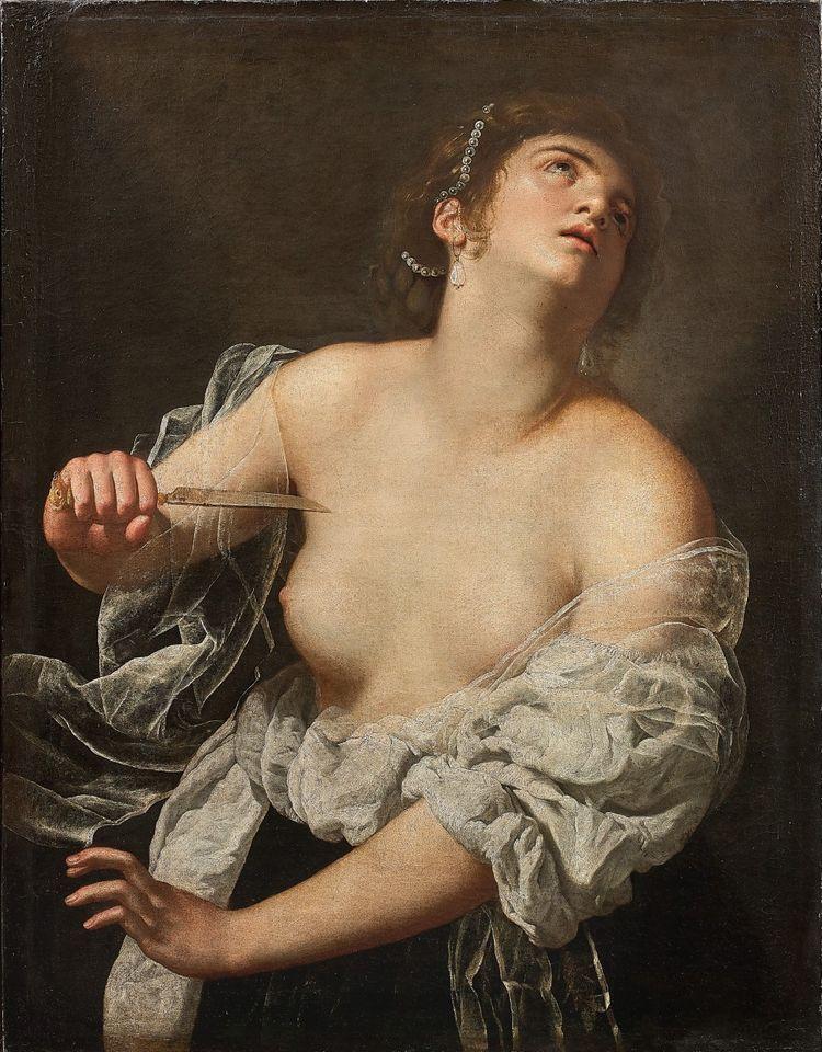 Artemisia Gentileschi, Lucrezia, 1630-1637. Coleção Particular