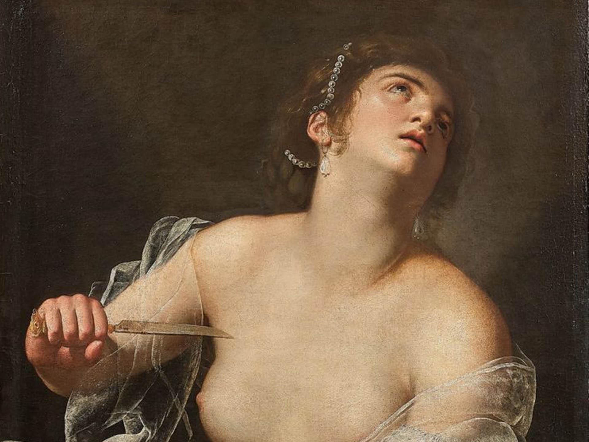 Artemisia Gentileschi - Lucrecia