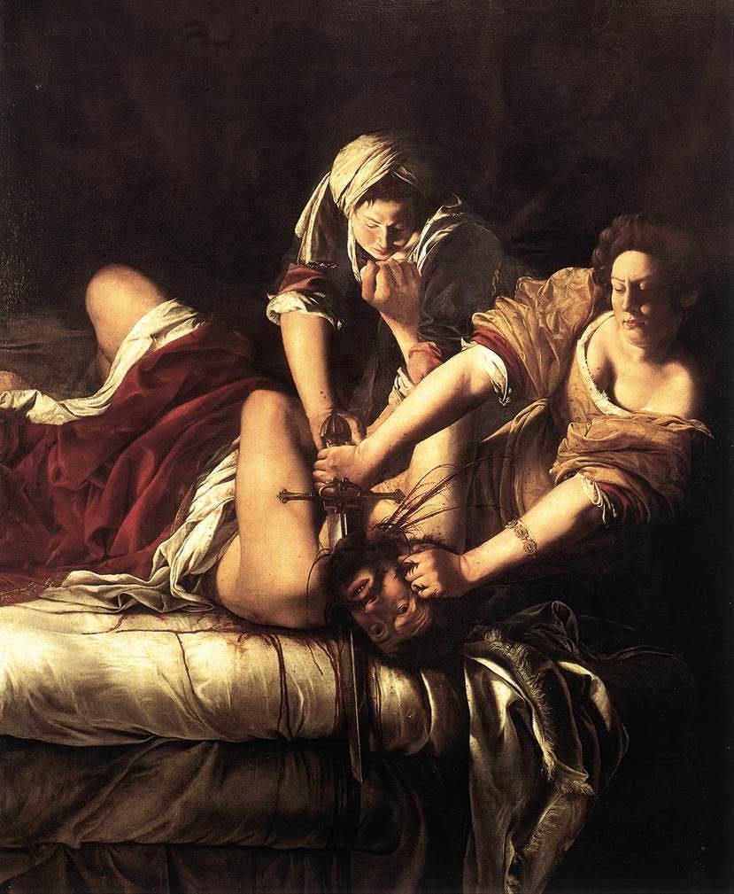 Artemisia Gentileschi, Judite decapitando Holofernes, 1620