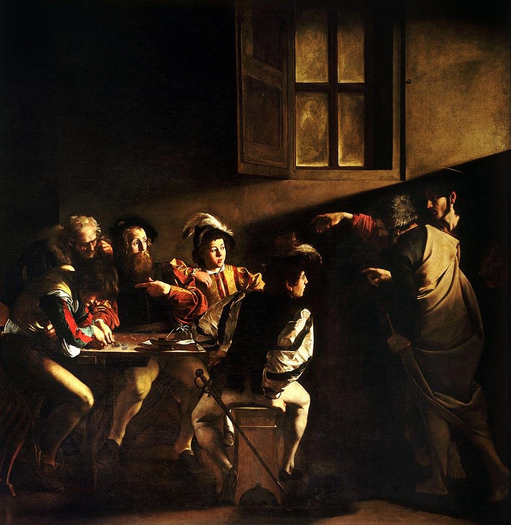 A Vocação de São Mateus, 1600 San Luigi dei Francesi, Roma.