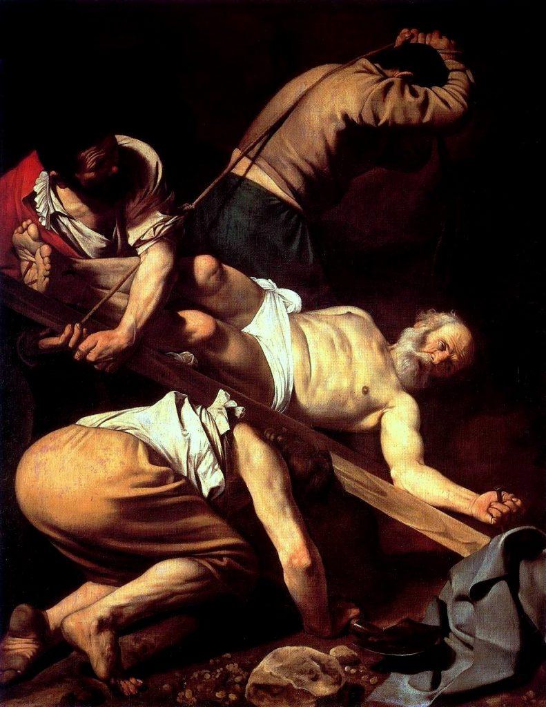 Crucificação de São Pedro, 1601. Santa Maria del Popolo, Roma, Itália.