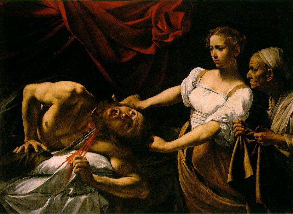 Judite decapitando Holofernes, c. 1599 Palazzo Barberini, Roma.