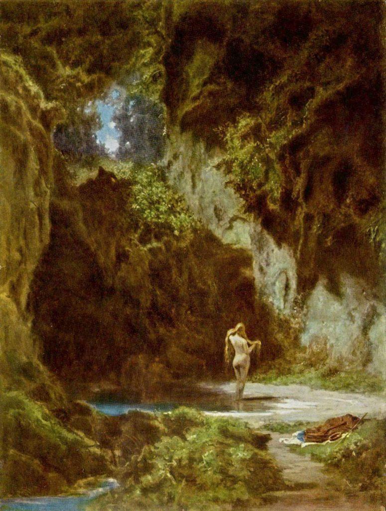 Badende Nymphe, c. 1855. Coleção Privada