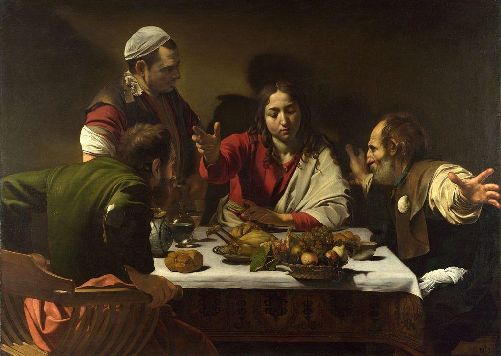 Ceia em Emmaús, 1602 -1603 National Gallery, Londres
