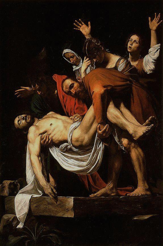 Deposição de Cristo, c. 1602-1603. Pinacoteca Vaticana, Roma.