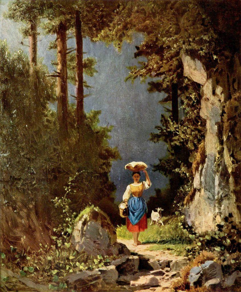 Girl with goat, c. 1860. Museu Grohmann, Wisconsin, Estados Unidos.