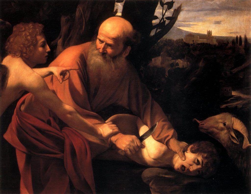 Sacrífico de Isaac, 1602. Galleria degli Uffizi, Florença, Itália.