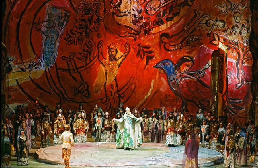 Cenário e figurino para a ópera A Flauta Mágica, 1967. Metropotilan Opera House, Nova York.
