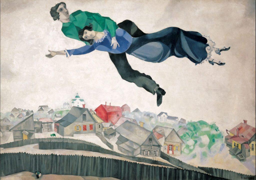Sobre a Aldeia, 1914-18. Tretyakov Gallery, Moscou, Rússia.