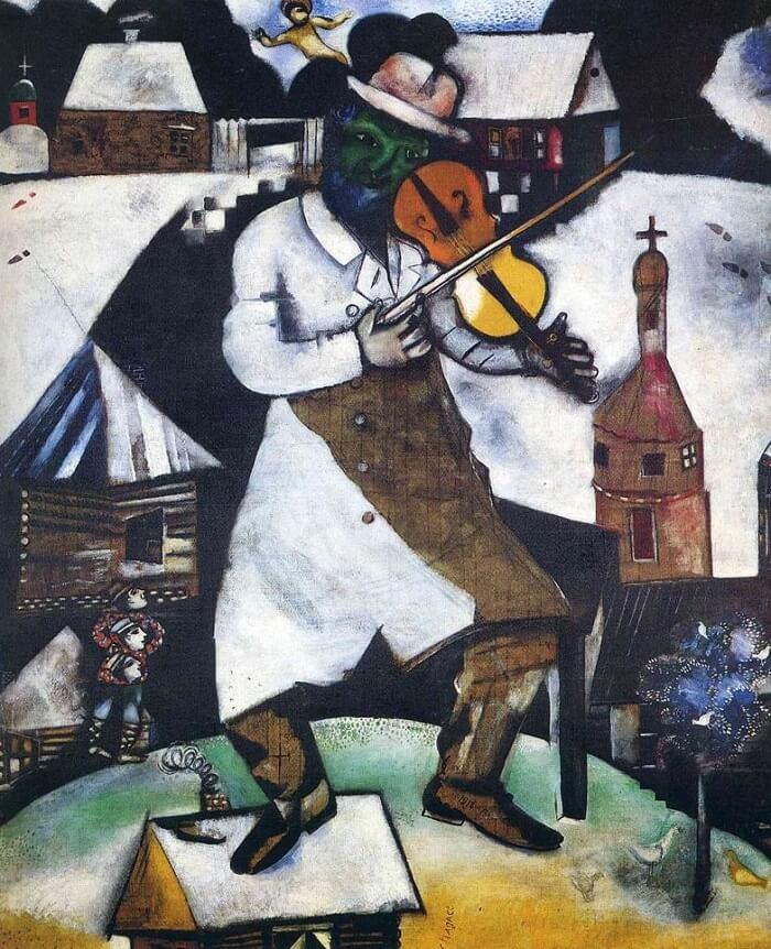 O Violinista, 1912-1913. Stedelijk Museum, Amsterdã, Holanda.