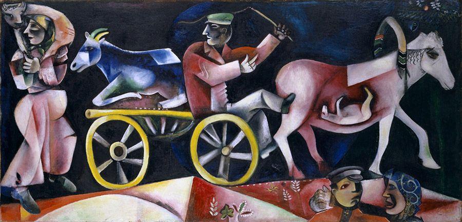 Marc Chagall (1887–1985); Le marchand de bestiaux; 1912