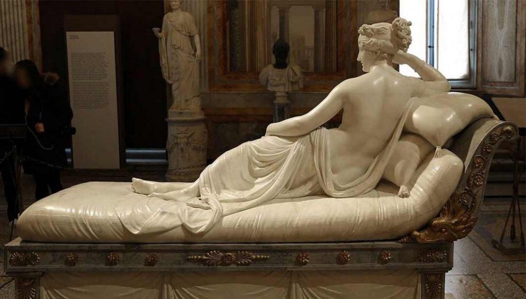 "Paolina Borghese como Venus Victrix"", 1804-08. Galeria Borghese, Roma."