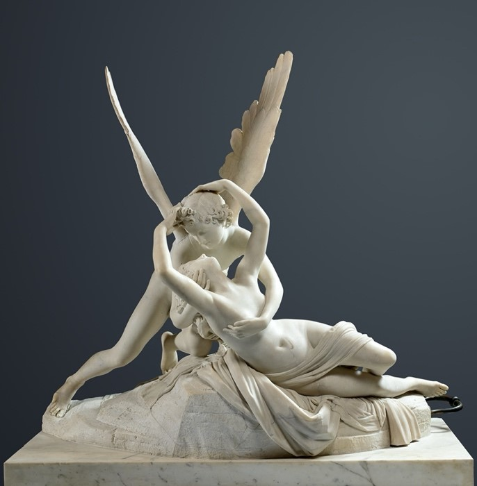 Eros e Psiquê ou Psiquê reanimada por um beijo do Amor, c. 1787-1793. Museu do Louvre, Paris.