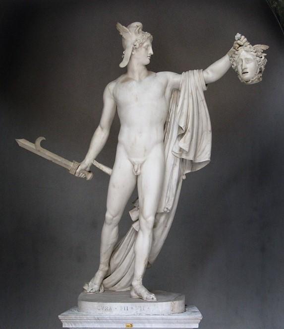 Perseu com a cabeça da Medusa, 1797. Museus Vaticanos, Cidade do Vaticano. Wikipedia Commons