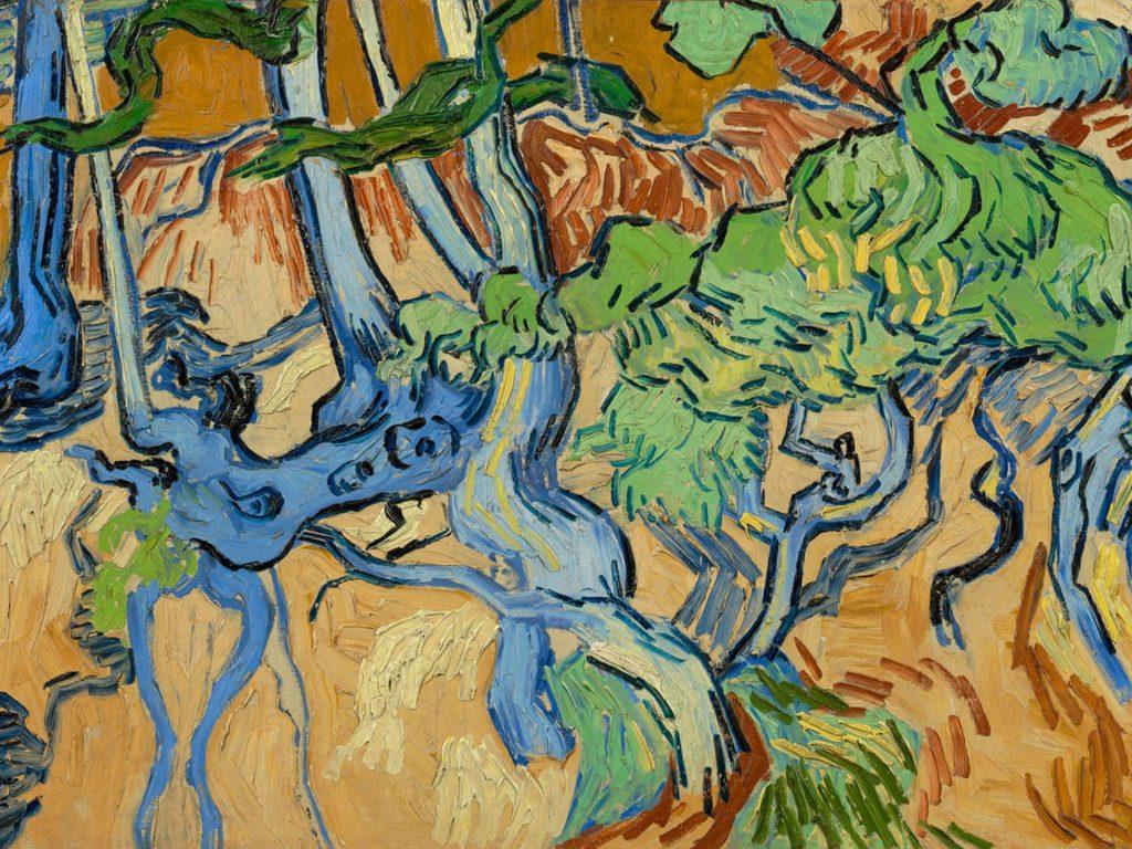 Van Gogh, Raízes de Árvores, Auvers-sur-Oise, Museu Van Gogh, Instituto Van Gogh