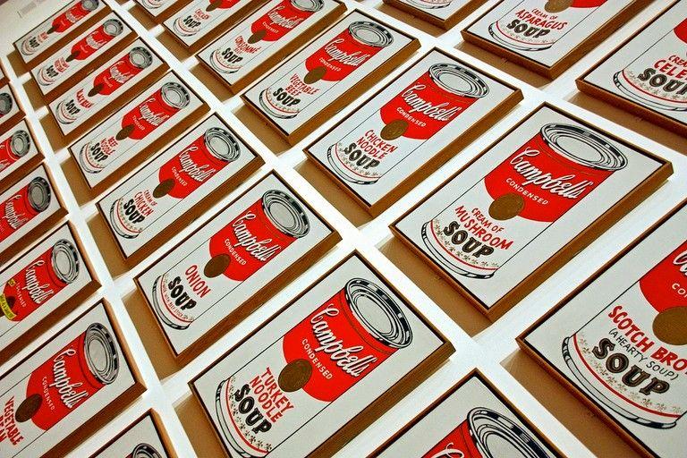 Andy Warhol, Campbell's Soup Cans, 1962. MoMA, Nova Iorque.
