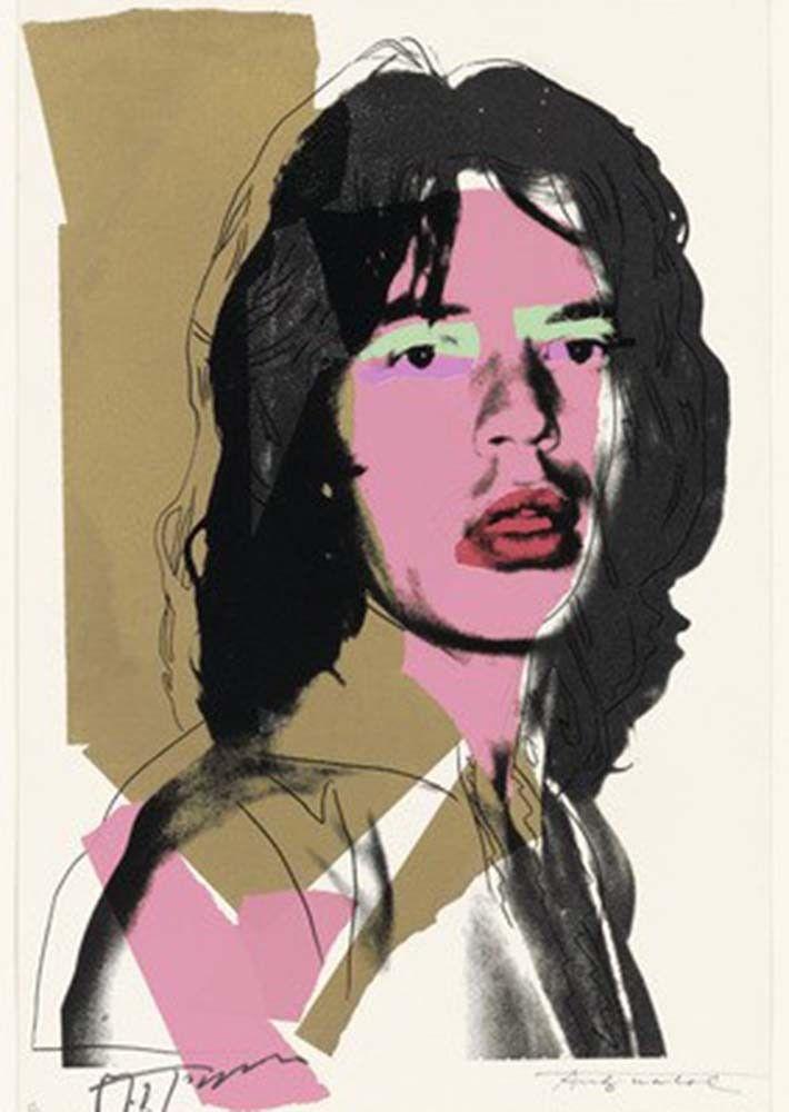Andy Warhol, Mick Jagger, 1975. MoMa, Nova York.