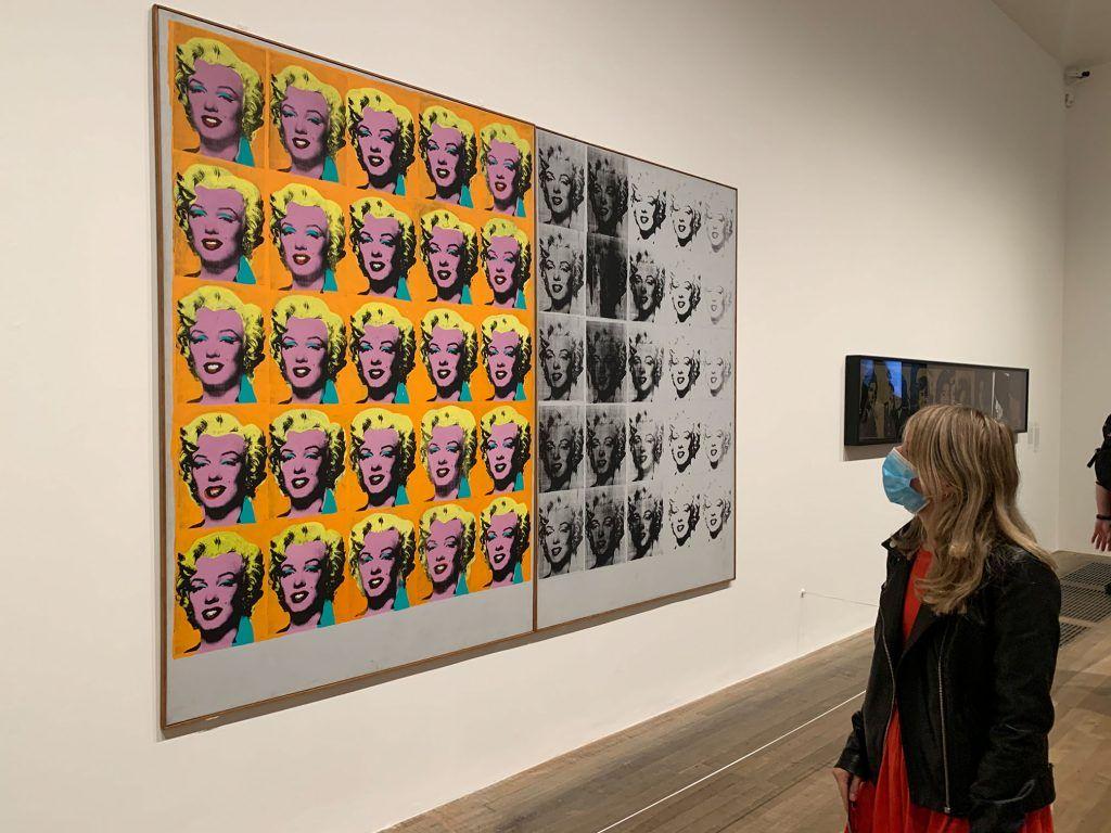 Andy Warhol, Marilyn Diptych, 1962. Exposição na Tate Modern.