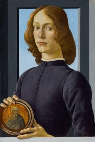 Retrato de um jovem com um medalhão, 1470-1485. Coleção Privada.