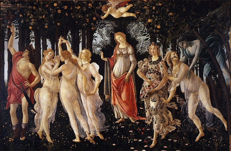 Primavera, c. 1480. Galleria degli. Uffizi, Florença. (Wikipedia Commons)
