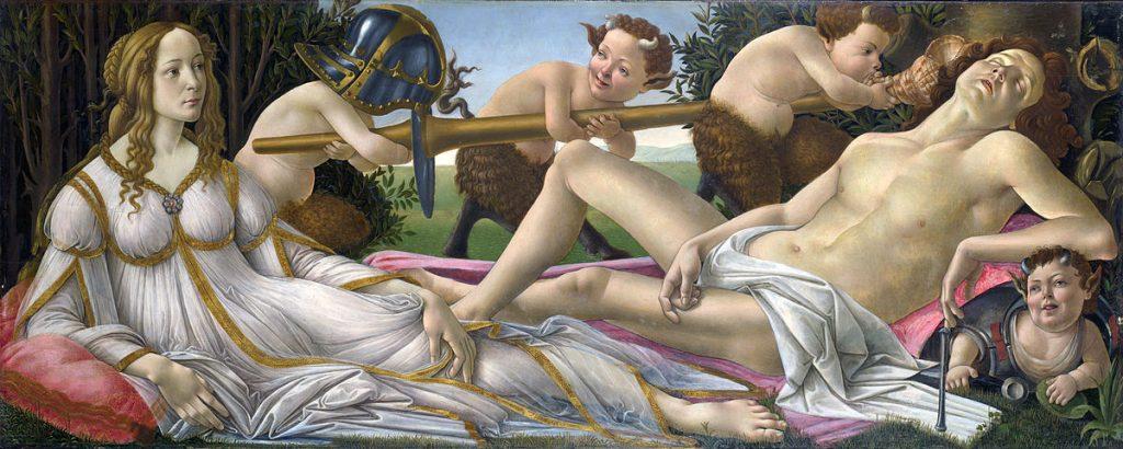 Marte e Vênus, c.1485. National Gallery, Londres. (Wikipedia Commons)