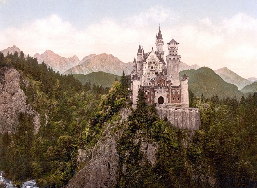 O castelo alemão de Neuschwanstein. Um dos principais repositórios.