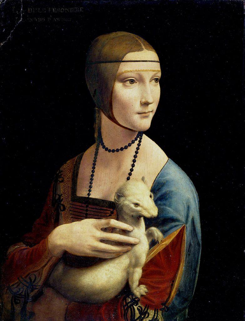 A obra Dama com Arminho (1452-1519), de Leonardo da Vinci, um dos tesouros nacionais da Polônia, foi roubada da coleção dos príncipes Czartoryski, em 1939. Hoje pode ser admirada no Museu Nacional de Cracóvia, na Polônia. (Wikimedia Commons)