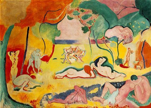 Bonheur de Vivre, 1905-06. Considerada uma das mais importantes pinturas fauvistas.