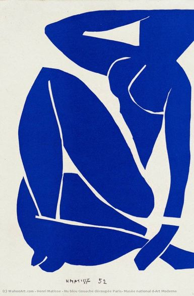 Nu azul III, 1952. Centro Georges Pompidou, Paris, França. https://www.wikiart.org/en/henri-matisse/blue-nude-iii-1952